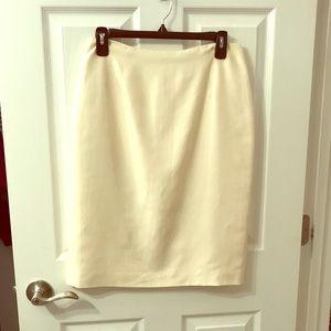 Ann Taylor Loft Silk Pencil Skirt